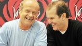 La Cage CD Signing – Kelsey Grammer – Douglas Hodge (laughing)