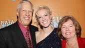 Star Patti Murin beams as she poses with her proud parents.
