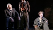 Ron Rifkin as Yevgeny Zunser, Daniel Oreskes as Pinchas Pelovits and Noah Robbins as Moishe Bretzky in The Twenty-Seventh Man.