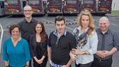 Photo Op – Addams Family – tour - Jesse Sharp - KeLeen Snowgren - Jennifer Fogarty - Shaun Rice - Amanda Bruton - Dan Olson