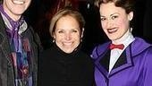 Smile!A beaming Katie Couric, flanked byleads Gavin Lee and Ashley Brown.