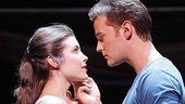 Josefina Scaglione as Maria and Matthew Hydzik as Tony in West Side Story.