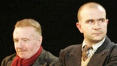 David Whitaker as Jimmy Floyd, Christopher Connel as Oliver Kilbourn, Deka Walmsley as George Brown, Michael Hodgson as Harry Wilson and Ian Kelly as Robert Lyon in The Pitmen Painters.