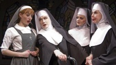 Amy Rutberg as Agnes, Charles Busch as Mother Superior, Alison Fraser as Sister Walburga and Julie Halston as Sister Acacius in The Divine Sister.
