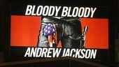 Bloody Bloody Andrew Jackson opening night – poster