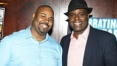 Memphis guys James Monroe Iglehart and J. Bernard Calloway get ready to party.