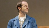 Denis O'Hare as Elling, Jennifer Coolidge as Gunn and Brendan Fraser as Kjell in Elling.
