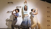 Halle Morse as Lisa, Liana Hunt as Sophie Sheridan and Traci Victoria in 'Mamma Mia!""