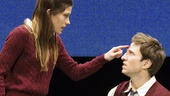 Jennifer Carpenter as Kayleen and Pablo Schreiber as Doug in Gruesome Playground Injuries.