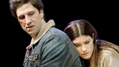 Pablo Schreiber as Doug and Jennifer Carpenter as Kayleen in Gruesome Playground Injuries.