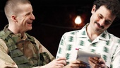 Brad Fleischer as Kev and Arian Moayed as Musa in Bengal Tiger at the Baghdad Zoo.