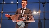 The charming Seth Numrich accepts the Favorite Play Award for War Horse.