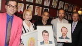 Village Voice columnist Michael Musto and Sardi's honcho Max Klimavicius were on hand to help reveal these latest portraits.
