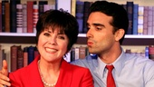 Joyce DeWitt as Miss Abigail and Mauricio Perez as Paco in Miss Abigail's Guide to Dating, Mating and Marriage.
