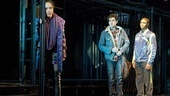 Arianda Fernandez as Mimi Marquez, Adam Chanler-Berat as Mark Cohen and Ephraim Sykes as Benjamin Coffin III in Rent.