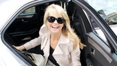 Christie Brinkley Does Chicago in London – Christie Brinkley (exit car)