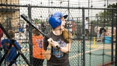 Hair Cast at Mets Game – Laura Dreyfuss (batting cage)