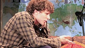 Jesse Eisenberg as Edgar and Camille Mana as Asuncion in Asuncion.