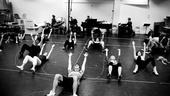 Lysistrata rehearsal – stretch 2