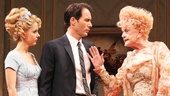 Kerry Butler as Mabel Cantwell, Eric McCormack as Senator Joseph Cantwell and Angela Lansbury as Mrs. Sue-Ellen Gamadge in The Best Man.