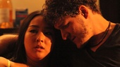 Zoë Winters as Bec and Gabriel Ebert as Leo in 4000 Miles.