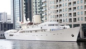 Master Class Star Tyne Daly Visits Onassis' Yacht -