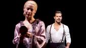 Elena Roger as Eva Peron and Ricky Martin as Che in Evita.