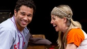 Corbin Bleu as Jesus and Morgan James in Godspell.