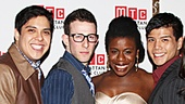 Newly minted Godspell star Corbin Bleu stands proudly with his castmates Lindsay Mendez, George Salazar, Nick Blaemire, Uzo Aduba, Telly Leung, Hannah Elless and Wallace Smith.