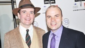 Blood and Gifts Lead Actor nominee Jefferson Mays (currently starring in The Best Man) takes a photo with playwright J.T. Rogers.