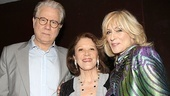 Drama League luncheon co-host John Larroquette (The Best Man) congratulates nominees Linda Lavin (The Lyons) and Judith Light (Other Desert Cities).