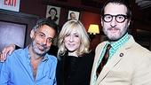 The lovely Tony nominee Judith Light enjoys sharing an afternoon with her Other Desert Cities director Joe Mantello and playwright Jon Robin Baitz.