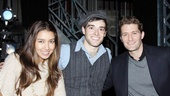 Morrison and his lovely girlfriend, Renee Puente, join Corey Cott for a backstage snapshot.