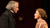 David Strathairn as Austin Sloper, Jessica Chastain as Catherine Sloper and Dan Stevens as Morris Townsend in The Heiress.