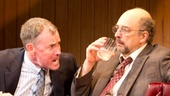 John C. McGinley as Dave Moss and Richard Schiff as George Aaronow in Glengarry Glen Ross.