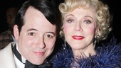 Matthew Broderick welcomes his new stage mother, Blythe Danner, to Broadway.