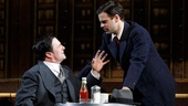 Nathan Lane as Chauncey Miles and Jonny Orsini as Ned in The Nance.