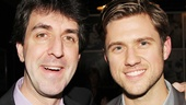 Jason Robert Brown chats with Les Miz film star Aaron Tveit at HB Burger.