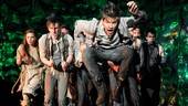 Jason Ralph as Boy and the cast of Peter and the Starcatcher.
