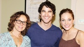 Laura Osnes is delighted to welcome Jennifer Grey and Darren Criss to the Broadway Theatre.