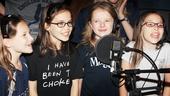 Matilda – Album Recording – Sophia Gennusa – Oona Laurence – Milly Shapiro – Bailey Ryon