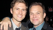 It's a Catch Me If You Can reunion! Aaron Tveit catches up with Big Fish star Butz on opening night…