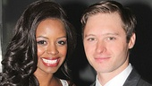 Onstage couple Krystal Joy Brown and Bobby Steggert dazzle at the Big Fish opening.