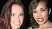Sierra and Ciara! Broadway favorite Sierra Boggess takes a snapshot with Ciara Renee, who plays the Witch in Big Fish.