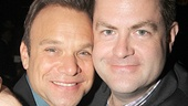 Picture perfect! Norbert Leo Butz takes a snapshot with Broadway.com Editor-in-Chief Paul Wontorek.