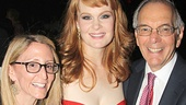 Big Fish producers Jill and Roy Furman flank leading lady Kate Baldwin on opening night.