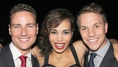 Priscilla Queen of the Desert alum Bryan West comes in for a photo with Big Fish's Ciara Renee and Joshua Buscher.