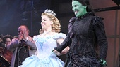 Wicked's leading ladies Alli Mauzey and Lindsay Mendez step forward to rapturous applause.