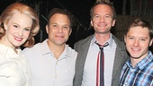 The How I Met Your Mother star had a blast with the entire Bloom family: Kate Baldwin, Norbert Leo Butz and Bobby Steggert. See them in Big Fish at the Neil Simon Theatre!