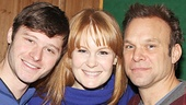 Aww! The Bloom clan—Bobby Steggert, Kate Baldwin and Norbert Leo Butz—cuddles up for a family photo.